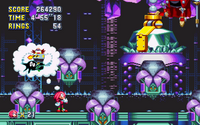Lava Reef Zone Act 2 Knuckles cutscene