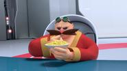 Eggman eating cereal