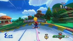 Mario and Sonic at the Sochi 2014 Olympic Winter Games - Groove Pipe Snowboard (Wii U)