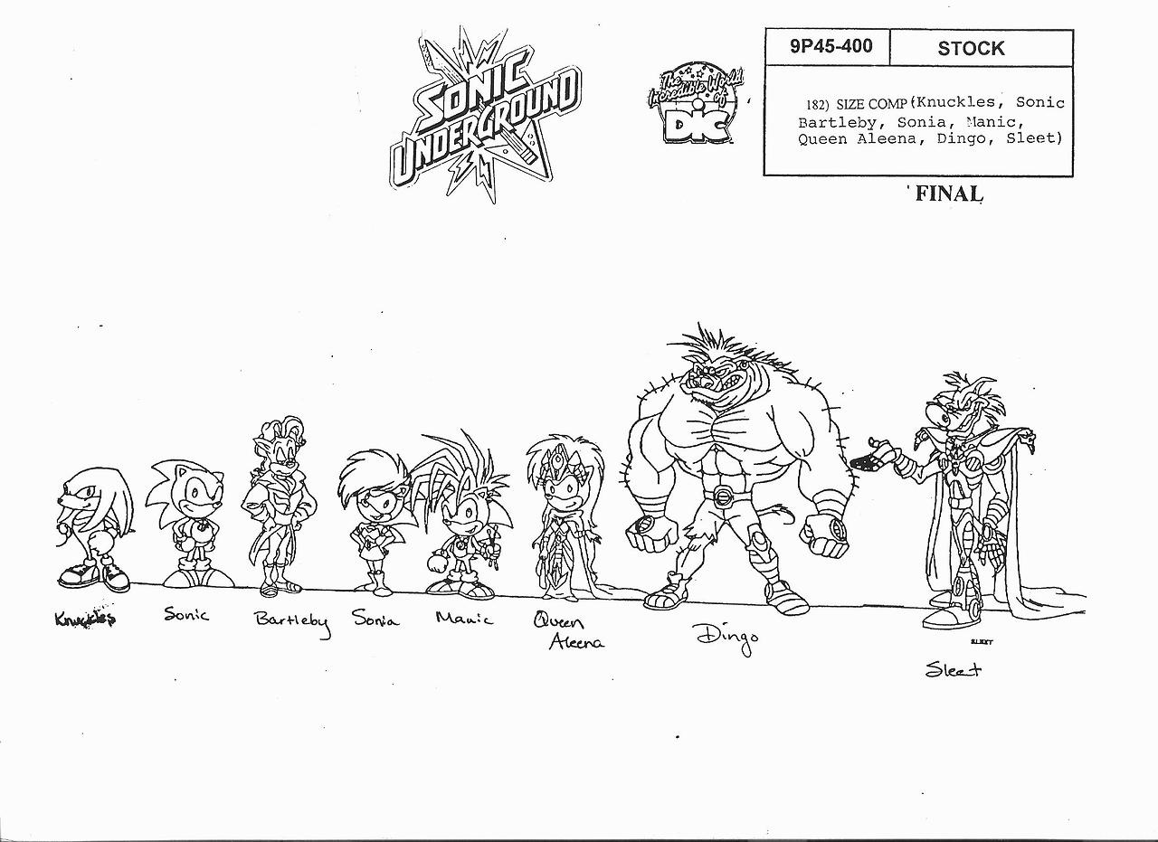 Sonic riders zero gravity coloring pages ~ Image - SonicUndergroundsizechart.jpg | Sonic News Network ...