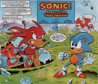 Sonic vs Knuckles Sonic the Comic