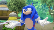 S1E33 Knuckles as Sonic