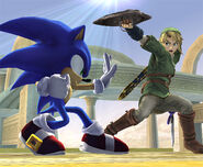 Smash Brawl Sonic vs Link