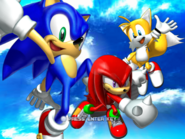 Sonic Heroes Title Screen