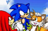 Sonic advance 2 ending artwork Sonic Tails and Knuckles