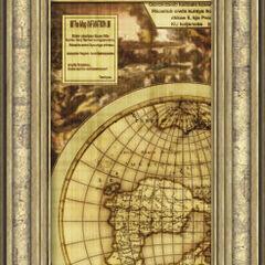 Un mapa del mundo encontrado en los Manuscritos de Gaia.
