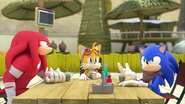 SB Knuckles Tails and Sonic