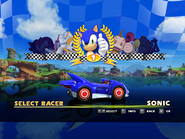 Sonic & Sega All Stars Racing Racer Selection
