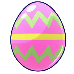 easter eggs no background