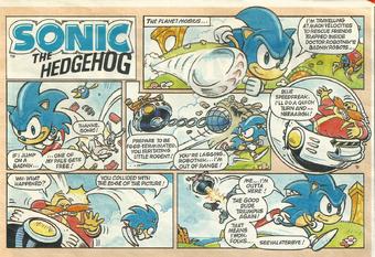 Sonic The Hedgehog Comic Strip Sonic News Network Fandom