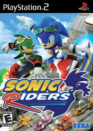 Sonic Riders - North-american cover for PS2