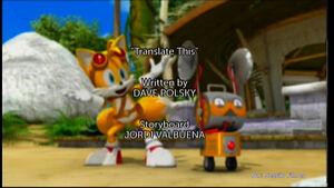 Capítulo de Sonic Boom, Traduce esto