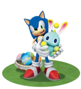SonicChaoEaster3D WithGrass