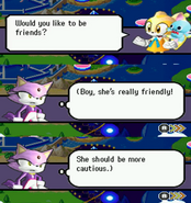 Cream wants to be friends with Blaze