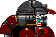 Sonic & Knuckles final boss (Gigantic Eggman Robo) - side showing cannon