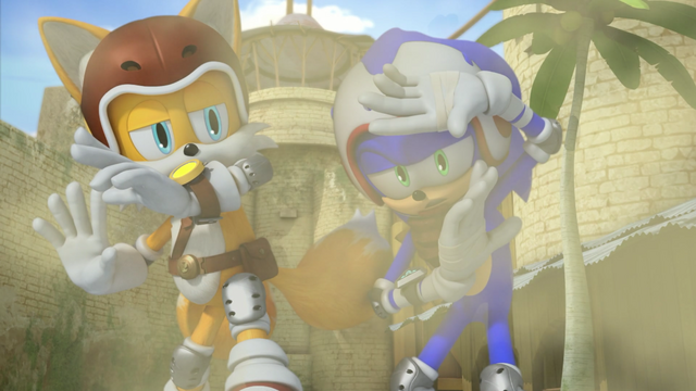 File:Tails and Sonic covering.png