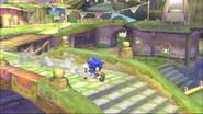 SSB4 Sonic in Skyloft