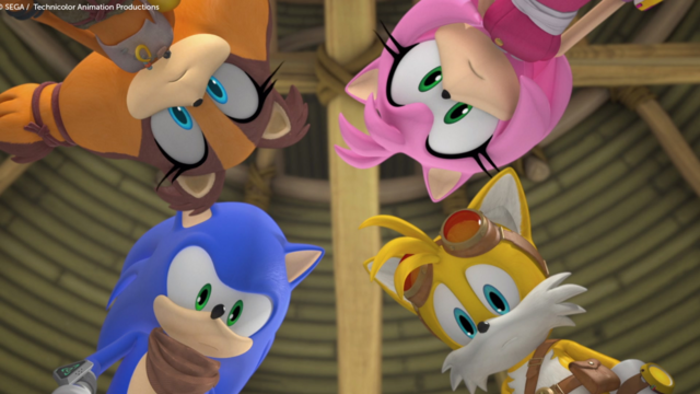 File:Sonic Tails Amy and Sticks.png