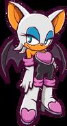 Rouge Sonic Battle artwork
