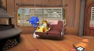 Tails in bed