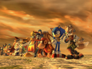 SSBB Sonic Sunset Opening