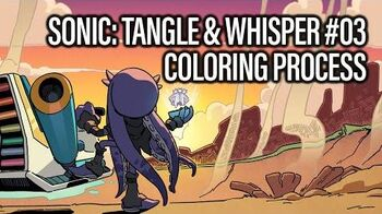 Sonic- Tangle & Whisper -03 (Coloring Process)