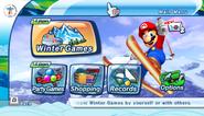Mario Sonic Olympic Winter Games Menu 1
