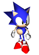Sonic R 3D Sonic stand