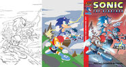 Sonic the hedgehog 277 cover flats by floresjessica-d989bvj