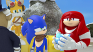 Knuckles talking to Mr. Slate