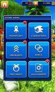Sonic Dash Store Menu