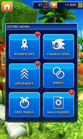 File:Sonic Dash Store Menu.png