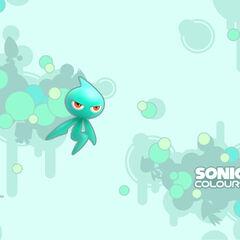 Wallpaper Oficial de <i>Sonic Colors</i>.