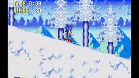 Sonic 3 & Knuckles Ice Cap Act 1 (Sonic)