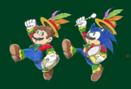 Mario & Sonic 2016 2D Mario Sonic