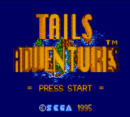 Tails Adventure title screen