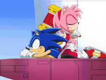Amy siedzi na Sonicu ep 20