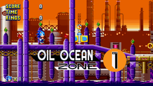 Oil Ocean Zone Sonic Mania Card