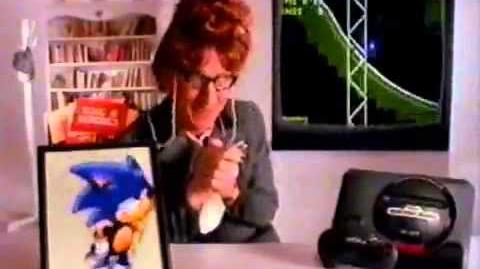 Sonic The Hedgehog TV Commercial Featuring Larry Cedar - Sega Genesis