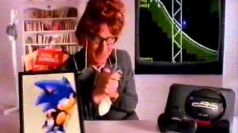 Sonic The Hedgehog TV Commercial Featuring Larry Cedar - Sega Genesis