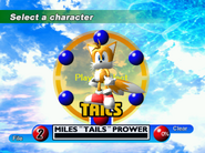 Sonic Adventure Character Select DC 2