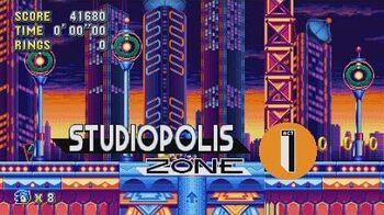 Sonic Mania - Studiopolis Zone - Sonic & Tails