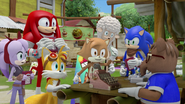 Villagers gathered at Mark's store