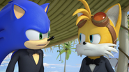 Sonic and Tails argue