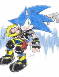 Sonic en sora mage