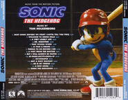 Sonic movie OST CD case back