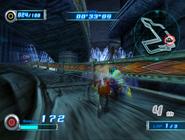 Eggman attacking sonic