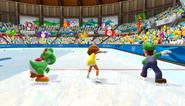 Mario Sonic Olympic Winter Games Gameplay 057