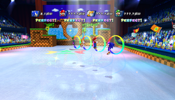 Mario Sonic Olympic Winter Games Gameplay 349