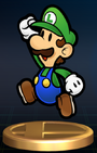 Paper Luigi - Brawl Trophy
